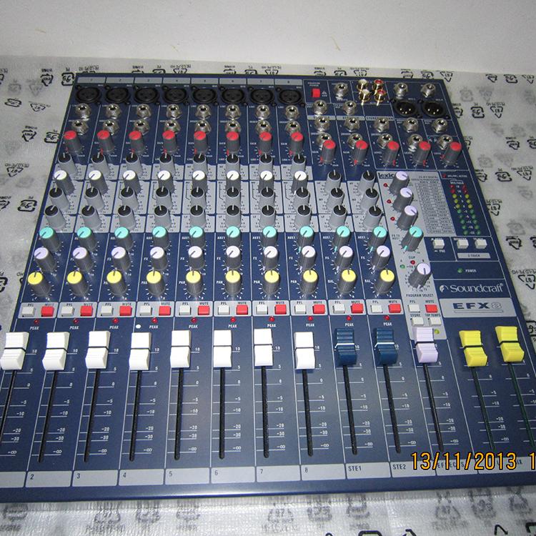 声艺 EFX8 带效果 音质好 可安装机架 调音台
