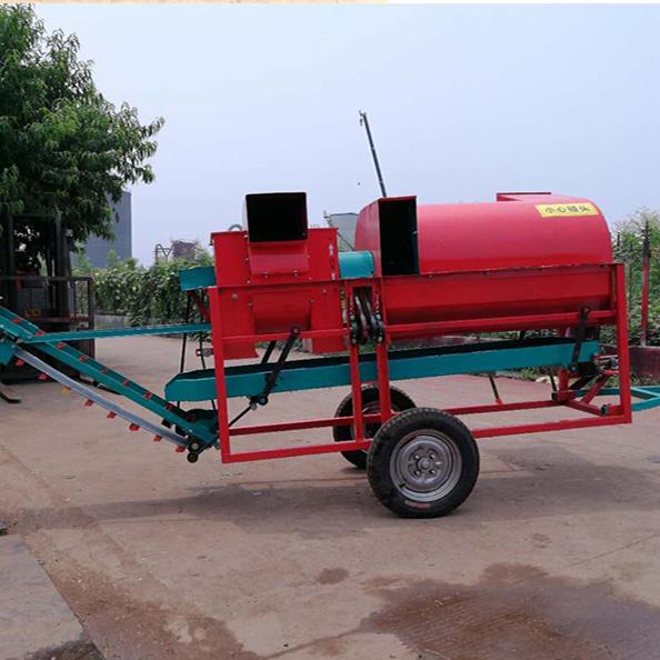 大型花生摘果机自动装袋拖拉机带动花生秧苗分离机花生脱粒机