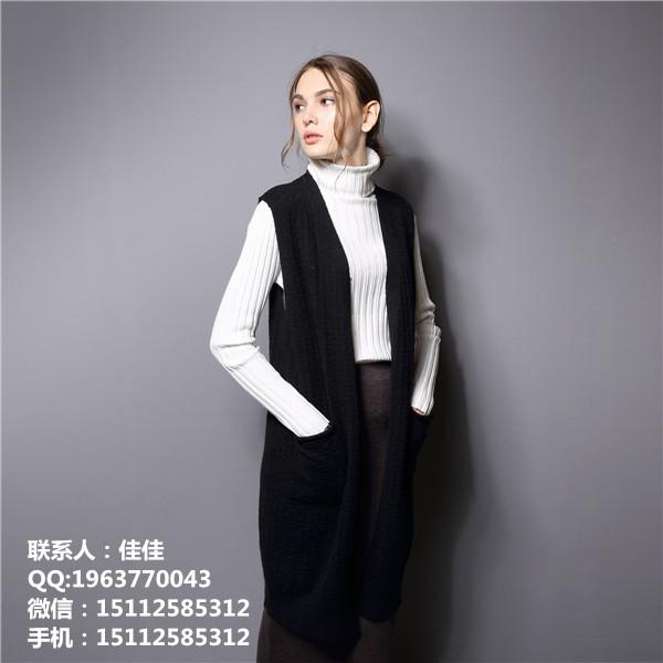 欧美版女式长款打底衫手工毛衣编织方法微商货源