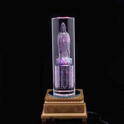 水晶摆件 可发光 佛系水晶