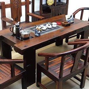 老船木茶桌茶几沉船木客厅阳台茶台茶桌椅组合