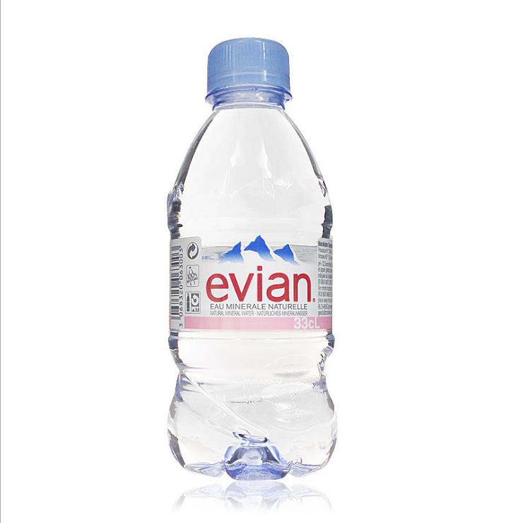 供应 EVIAN 依云矿泉水 依云水330ml 24瓶 法国进口 进口矿泉水