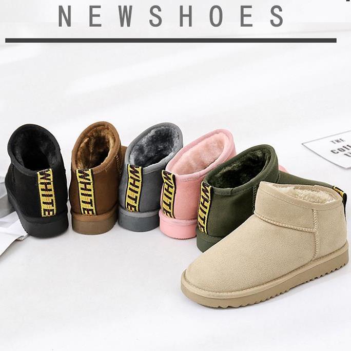 2017新款雪地靴短筒冬季女靴子短靴韩版百搭学生保暖加绒棉鞋女鞋