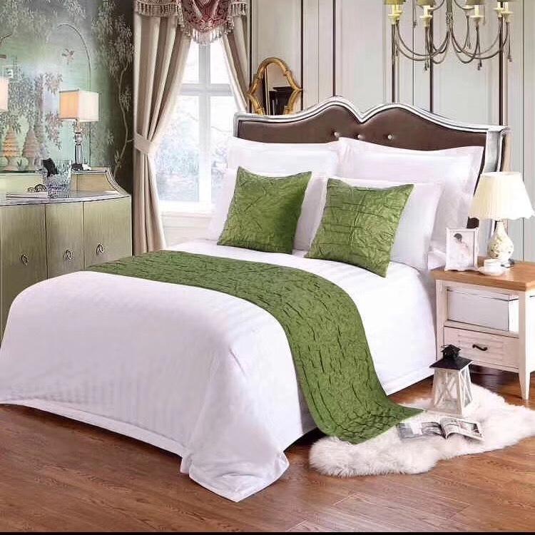 君康JK 直销宾馆床上用品全棉缎条床单宾馆酒店床品