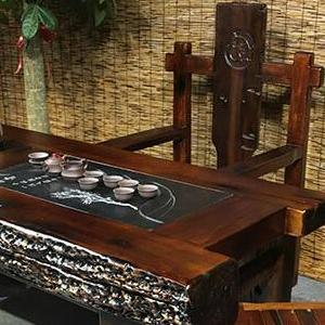 老船木茶几批发龙骨茶桌功夫泡茶台图片中式会所客厅茶艺桌
