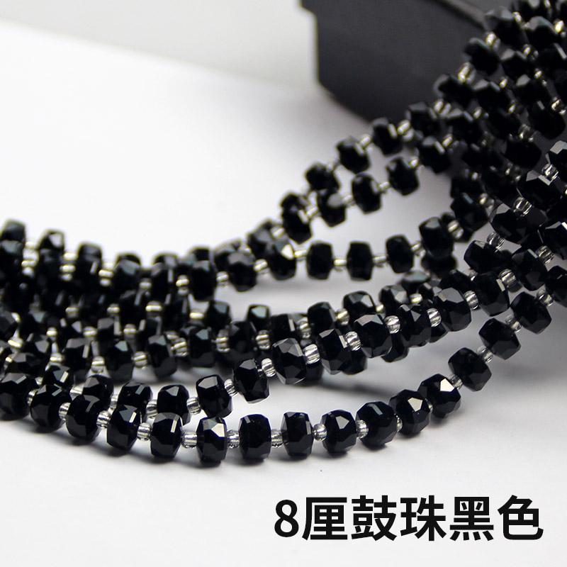 水晶珠子 8厘鼓珠 DIY串珠 编手链 编玩偶 配饰材料