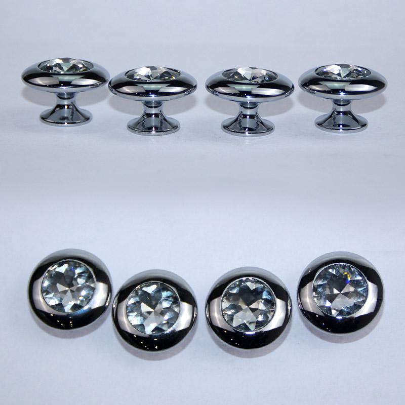 衣柜门拉手 欧式橱柜 鞋柜 酒柜 抽屉把手 现代简约圆单孔 水晶拉手 L015