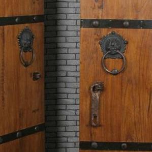 中式实木仿古大门双开木门老榆木别墅复古农村大门围墙大门