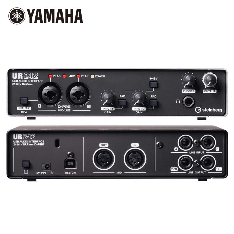 雅马哈 YAMAHA Steinberg UR242 专业录音 网络K歌 USB音频声卡