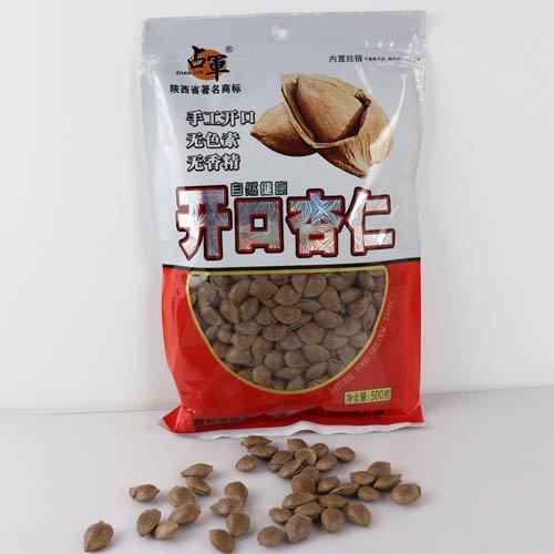 陕西特产 榆阳占军开口杏仁手工开口无色素不添加自然健康休闲小吃 500g