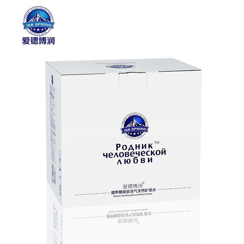 爱锶博润珍稀复合型含气天然矿泉水俄罗斯原装进口6瓶装