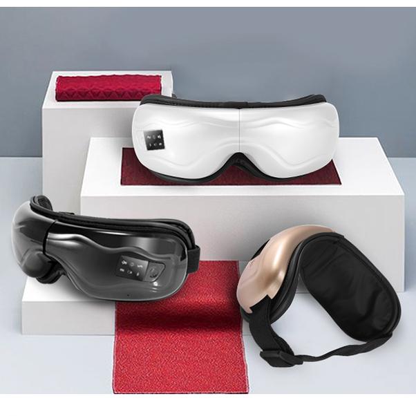 厂家直销雄健新款气动护眼仪热敷气压眼部按摩器蓝牙静音眼保姆