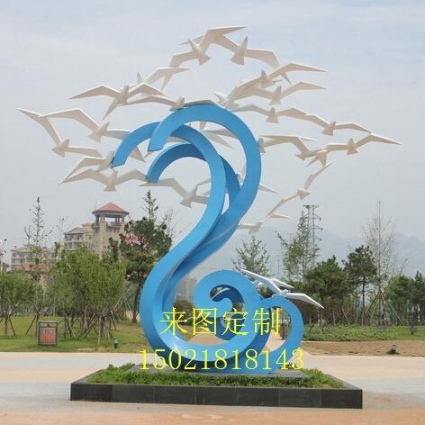 四川雕塑厂家 不锈钢景观雕塑 城市小品景观雕塑 广场摆件 来图定制图片