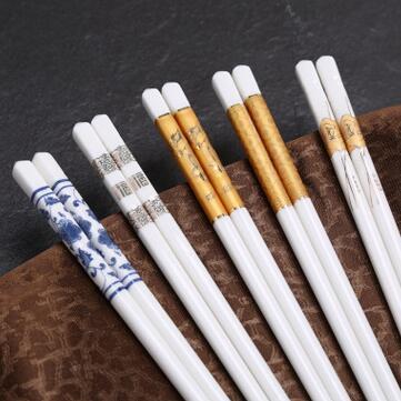 供应  家用陶瓷礼品筷子