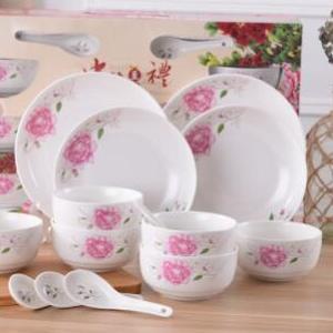 供应 14 16 22头高档陶瓷碗盘碟套装