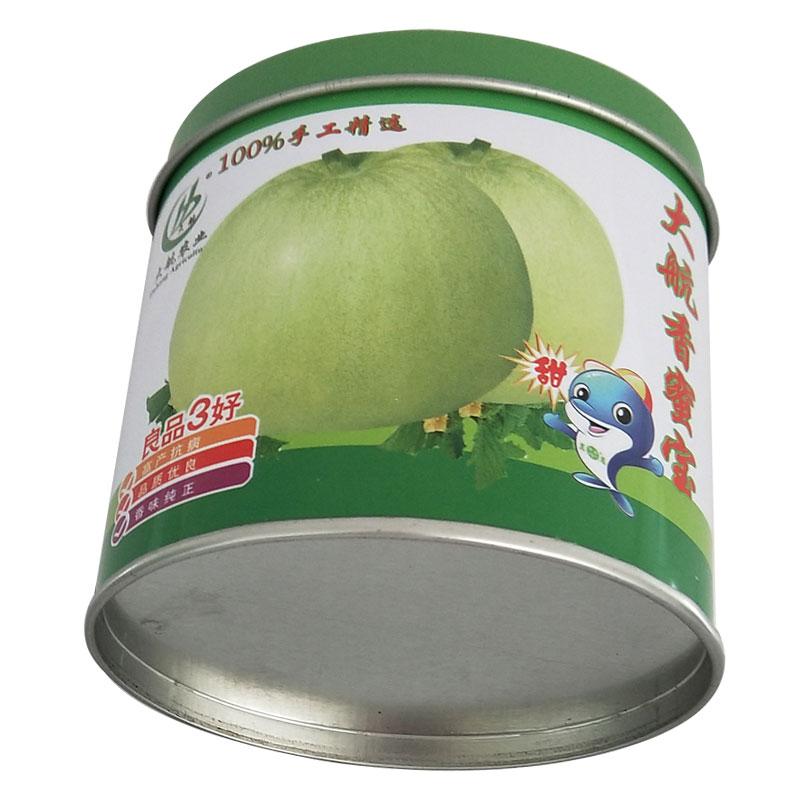 椭圆形种子罐    甜瓜种子罐      一罐一码铁罐