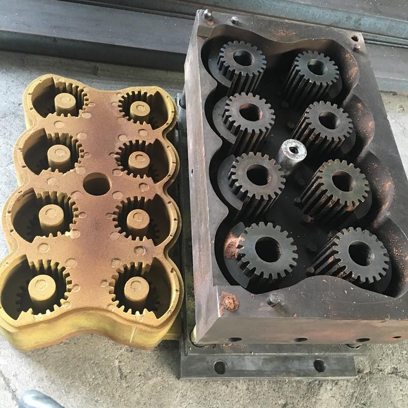 厂家供应铁磙子覆膜砂热芯盒模具铸铁模具覆膜砂模具热芯盒壳型模具