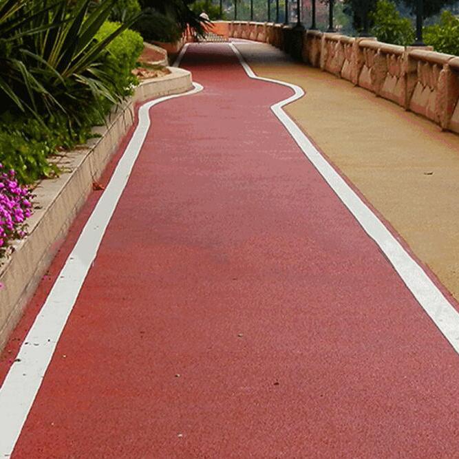 供应 彩色沥青路面工程红色沥青混凝土工程承接