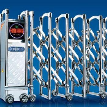 南京铝合金电动门 铝合金电动伸缩门 不锈钢电动伸缩门批发 维修