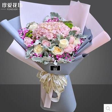 供应 情人节厦门鲜花店速递同城玫瑰混搭花束生日表白