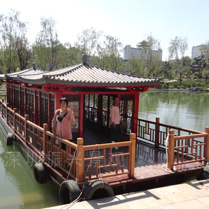 绵竹市海盗木船厂家直销 玻璃钢景观雕塑船定做户外景观木船【振兴】
