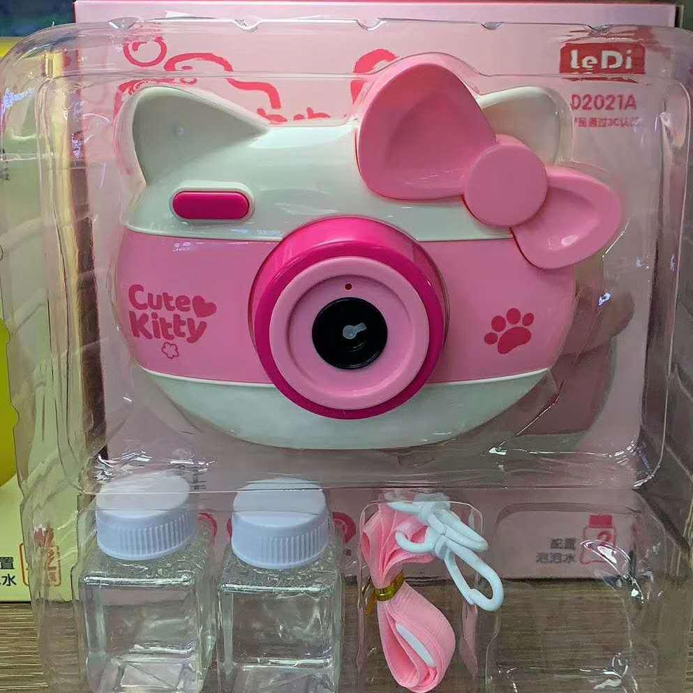 兒童玩具泡泡相機 實用卡通小豬熊貓全自動泡泡機廠家批發