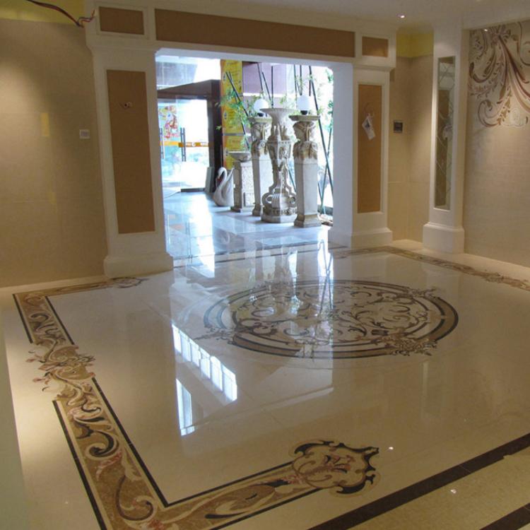 水刀拼花 家用 别墅 工程 酒店  大理石 使用 美观流行 装饰