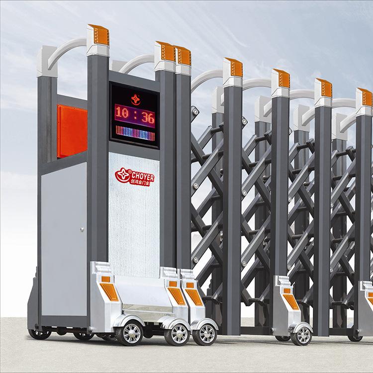 供应  电动伸缩门批发 小区伸缩门 平开门直销