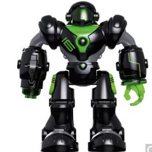 盈佳新威尔机械战警智能机器人儿童遥控电动智能玩具 黑色