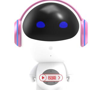 智能机器人小木远程遥控互动陪伴儿童早教语音对话聊天声控音乐云故事机中小学课本同步 珠光紫