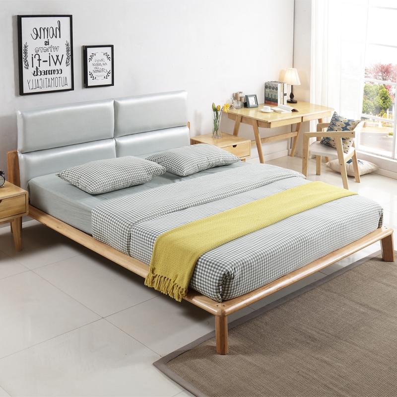 北欧日式全实木床简约双人床U4J073
