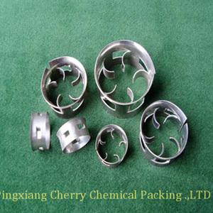 新型开孔型填料金属阶梯环填料