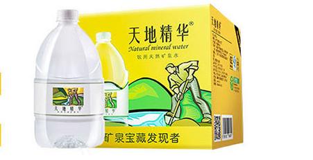 招商 天地精华饮用天然矿泉水4.5L 4桶 箱