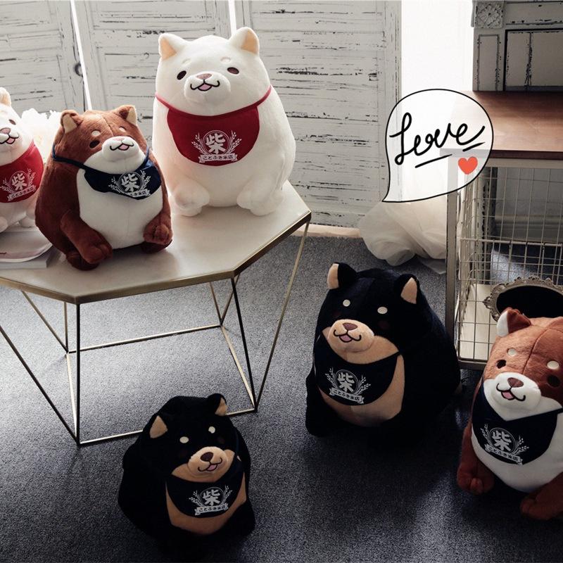 日本柴犬公仔萌萌可爱柴犬三兄弟胖胖小狗毛绒玩具生日礼物