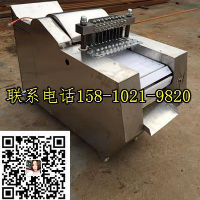 小型电动切鸡块的机器|剁鸡块的机器产量多大|北京切鸡块机器厂家|单位食堂后厨切鸡块机器