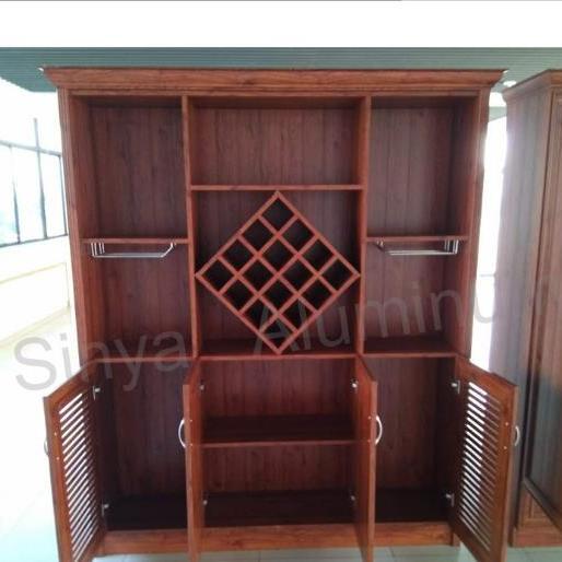 爱兴亚直供 定制全铝家具 铝合金橱柜 酒柜