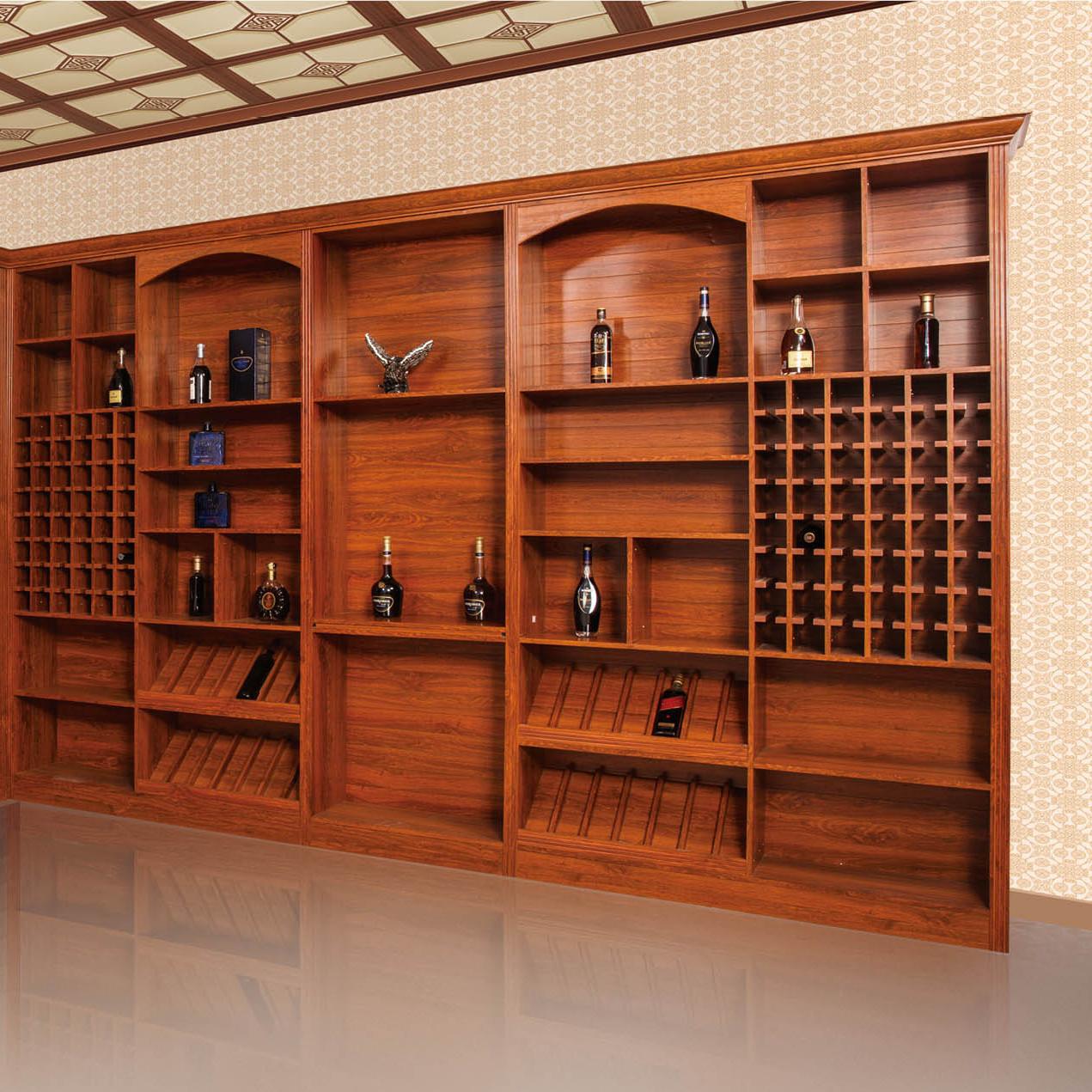 仿木纹复古式铝合金豪华式酒柜 防潮防虫 铝艺置酒架 质量保障