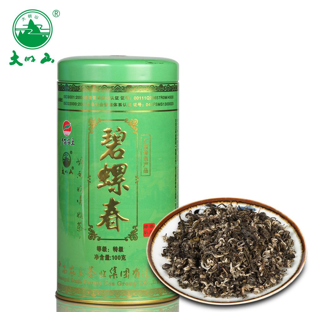 廣西農墾茶葉  特級綠茶 罐裝碧螺春綠茶100g