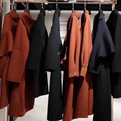 蒂欧妮18款双面羊绒大衣高性价比冬季货源