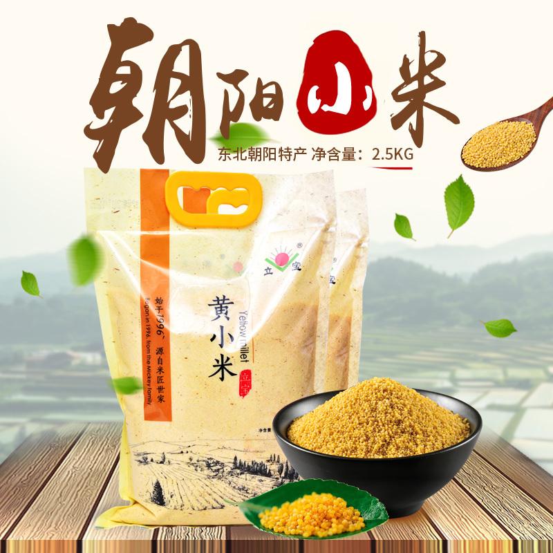 朱碌科小米  厂家直销 2.5kg袋装 立宝黄小米