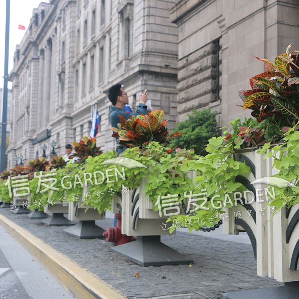 隔离带隔离栏花箱组合 古风脸谱组合花箱市政工程
