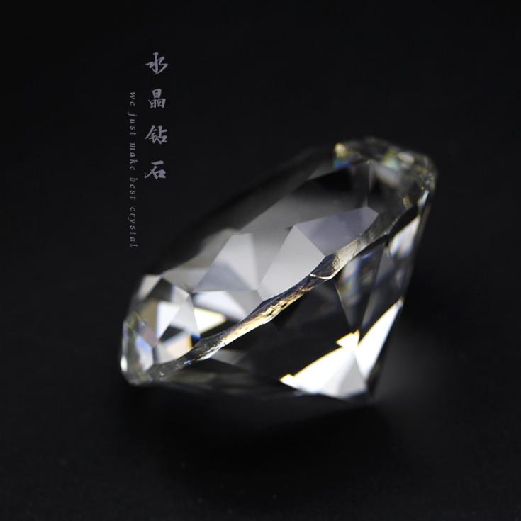 供应 水晶钻石摆件拍摄小道具汽车办公室柜台装饰品美甲拍照可刻字留念