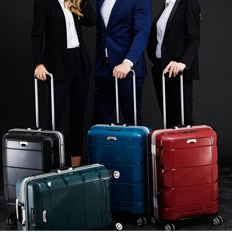 供应 Lucky Club行李箱男铝框商务女万向轮20寸24登机电脑拉杆旅行箱子