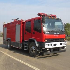 庆铃JDF5170GXFPM70型7吨泡沫消防车价格  水罐消防车厂家 水泡联用消防车报价