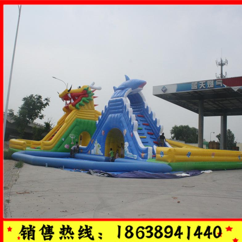儿童充气城堡室外大型蹦蹦床乐园淘气堡游乐设备滑梯户外攀岩跳床