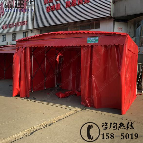 北京延慶推拉篷生產廠家 伸縮遮陽蓬定做 帶轱轆排檔棚上門安裝