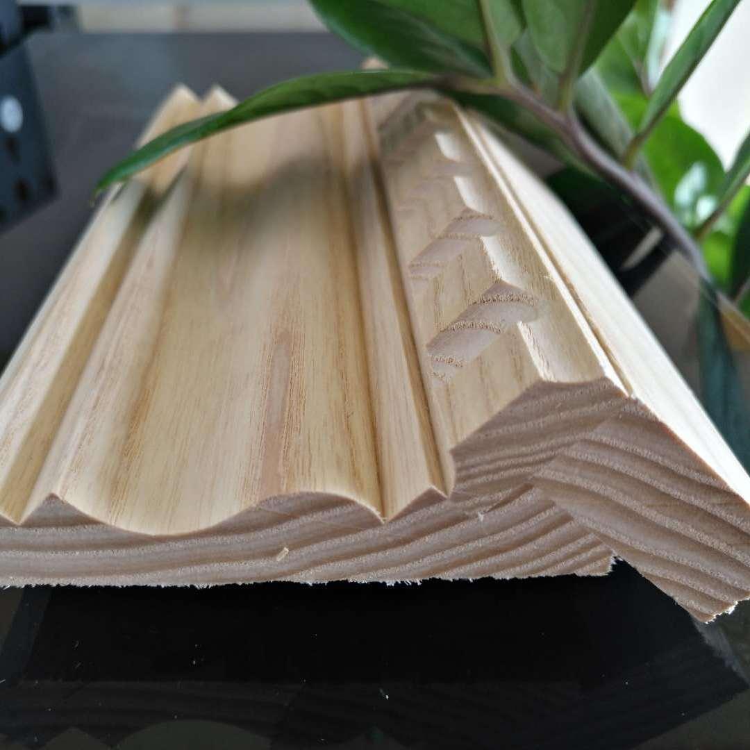 厂家直销新西兰无节辐射松PVC包覆衣柜顶线NBY-90