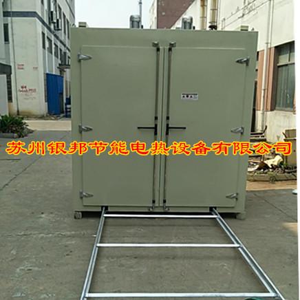 大型金屬件熱處理烘烤箱 鋼鐵件靜電噴塑固化烤箱 前后雙開門通道式烘烤箱