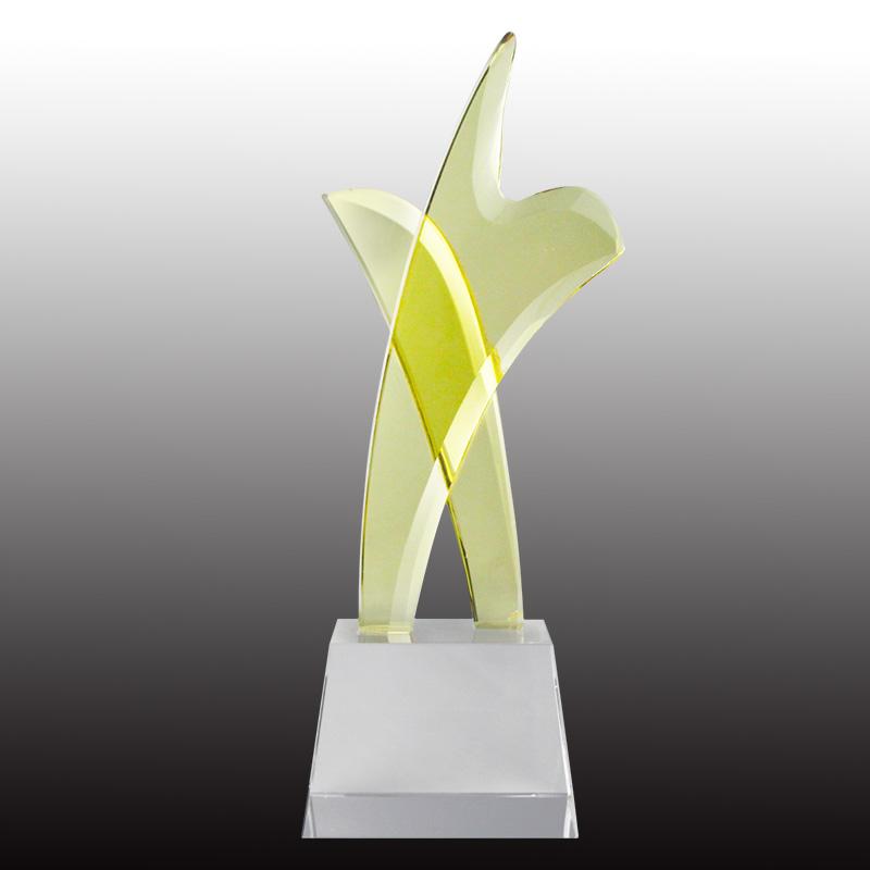 水晶奖杯 水晶工艺品 可定制 可刻字 纪念奖杯