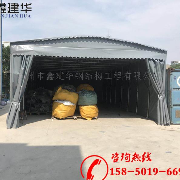 济南章丘市供应仓储专用推拉篷 户外遮阳防雨篷 移动折叠雨棚可安装